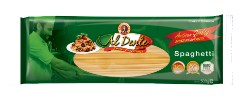 The most popular form of pasta, SPAGHETTI is (singular spaghetto) derived from the Italian word spago, meaning thin string or twine. Its best-known servings are Spaghetti alla Bolognese and Aglio Olio. Available in 500g pack.