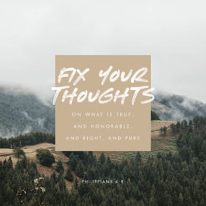 Fix your thoughts