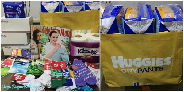 Along with parenting tips, we were also able to take home these goodies from the Celebrity Mom and Huggies Playdate