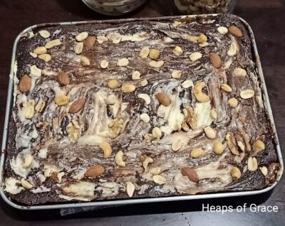 All Nuts Cream Cheese Brownies