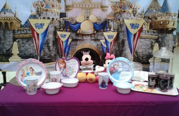 Disney-themed kiddie tableware