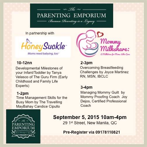 MommyMilkshare Programme Schedule