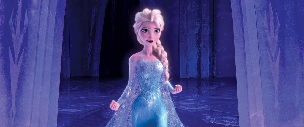 Queen Elsa on her ice kingdom