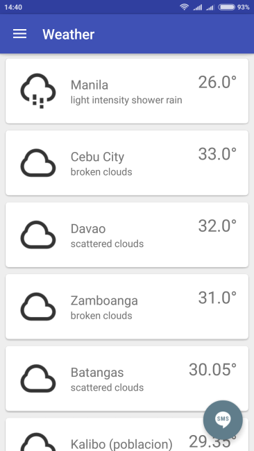 Metro Class Suspensions App - Weather