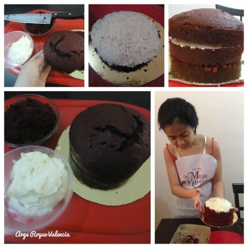 The Maya Kitchen - Decorating My Red Velvet Cake