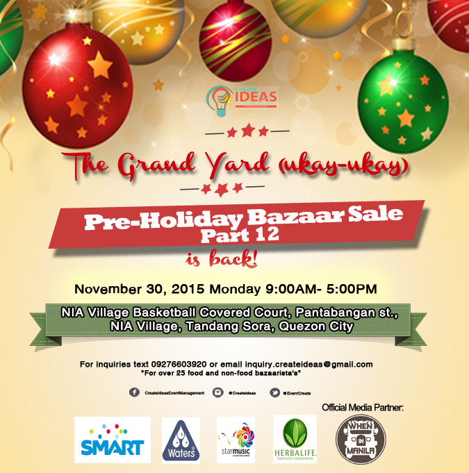 The Grand Yard (Ukay-Ukay)  Pre-Holiday Bazaar Sale