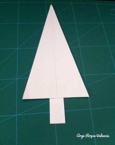 Blank cardboard Christmas tree