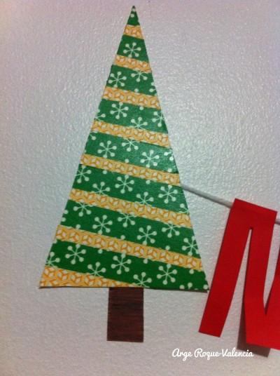 Washified cardboard Christmas tree